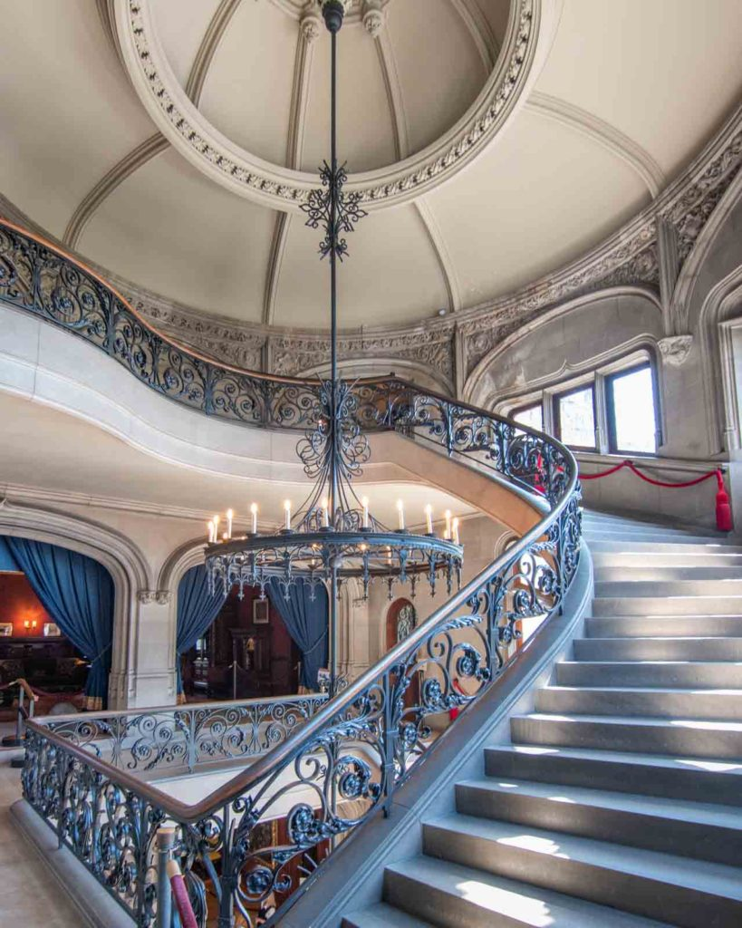 Beautiful spiral staircase in the Biltmore House