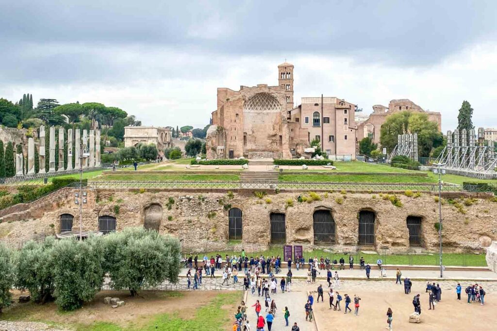 Photo of the Temple of Venus and Roma, part of the Roman Forum in Rome, Italy.