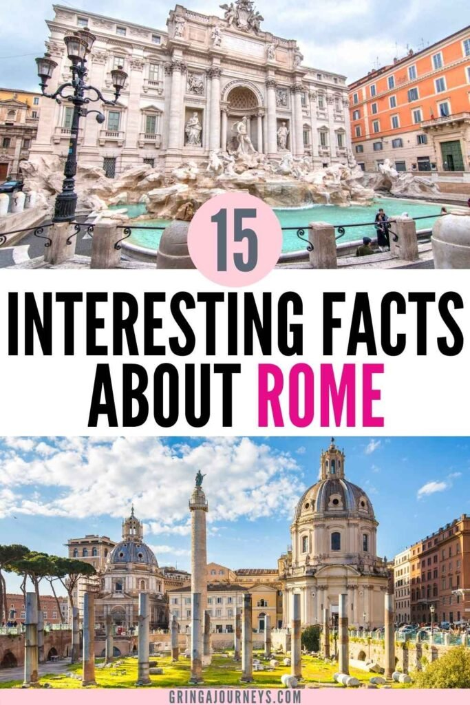 Learn 15 interesting facts about Rome, including surprising ancient Rome facts and fun facts about the city of Rome today!