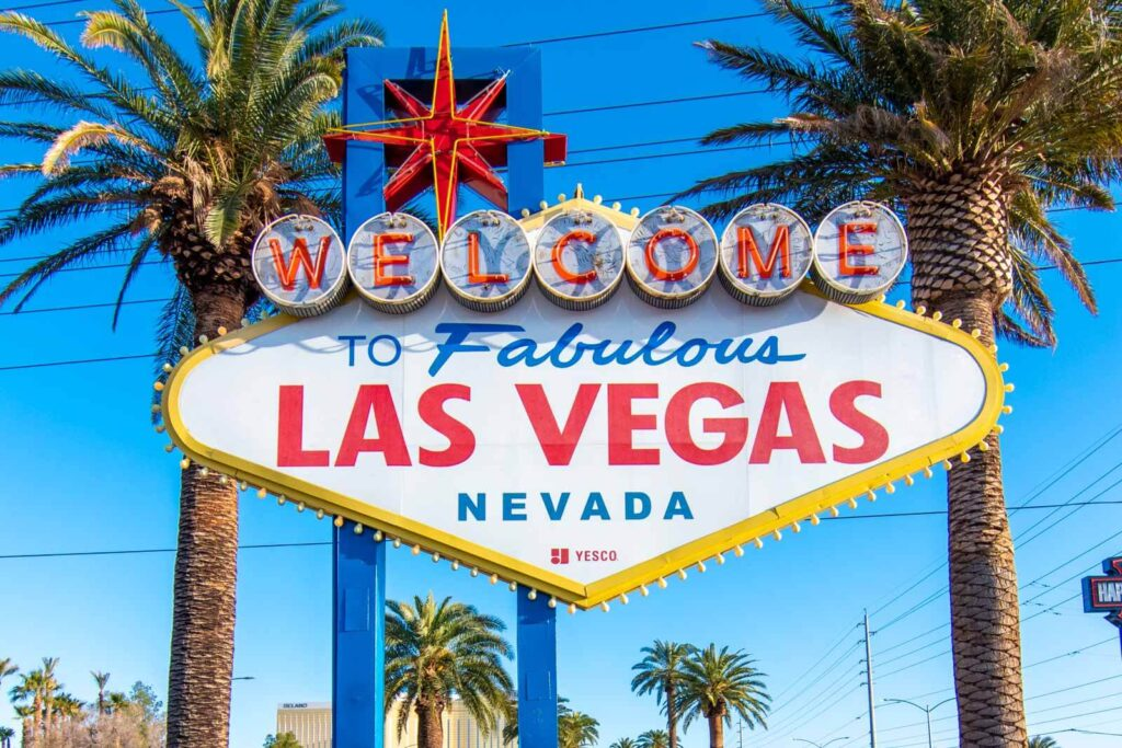 Welcome to the Fabulous Las Vegas, Nevada famous neon sign