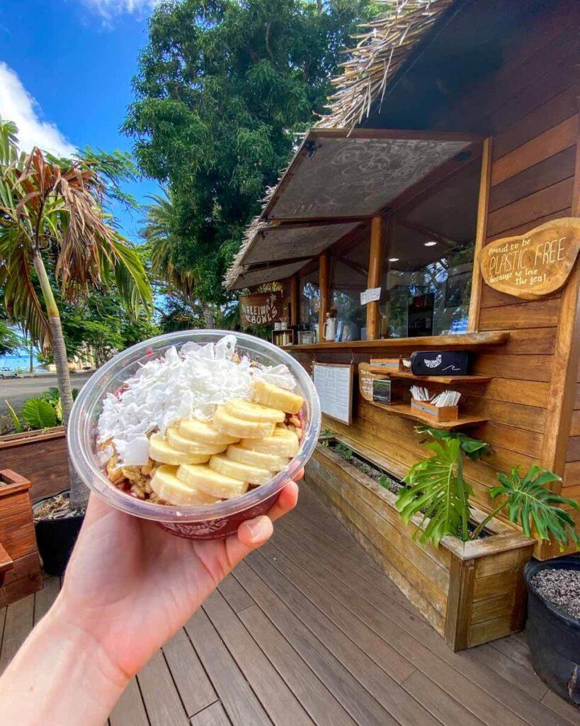 Açai bowl at Haleiwa Bowls on Oahu's North Shore