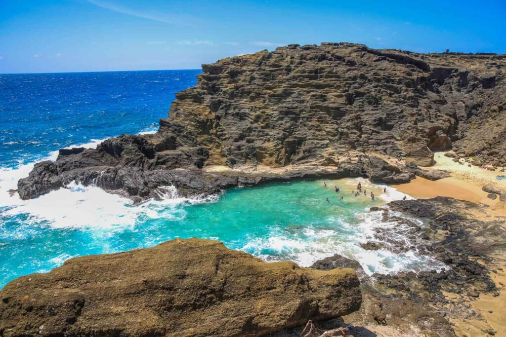 View of Halona Beach Cove & Halona Blowhole Lookout