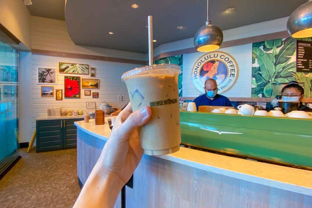 Hawaiian latte at Honolulu Coffee