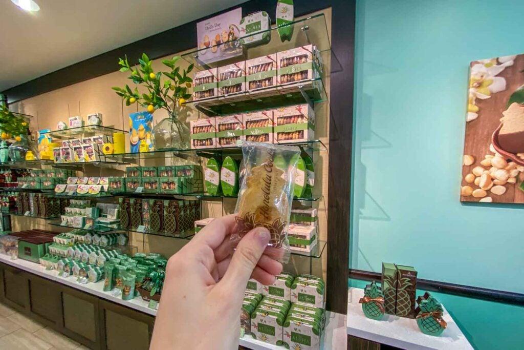 Macadamia nut cookie at Honolulu Cookie Company