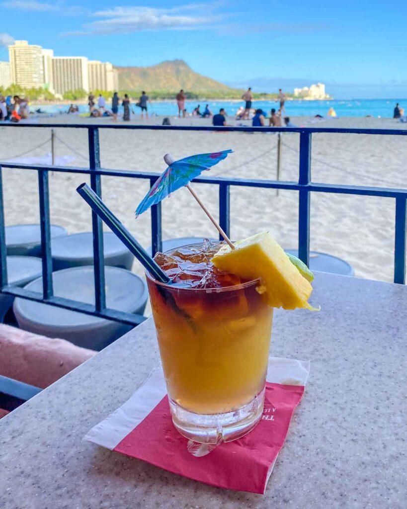 Famous Mai Tai at Mai Tai Bar at the Royal Hawaiian in Honolulu
