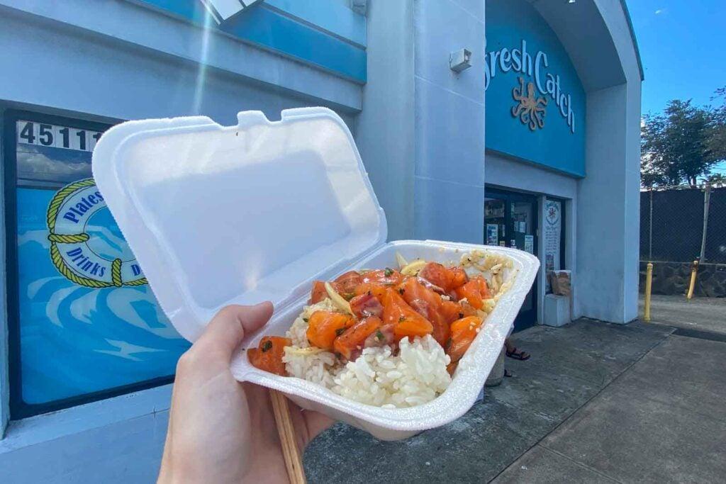 Shoyu salmon poke at Fresh Catch Kaneohe