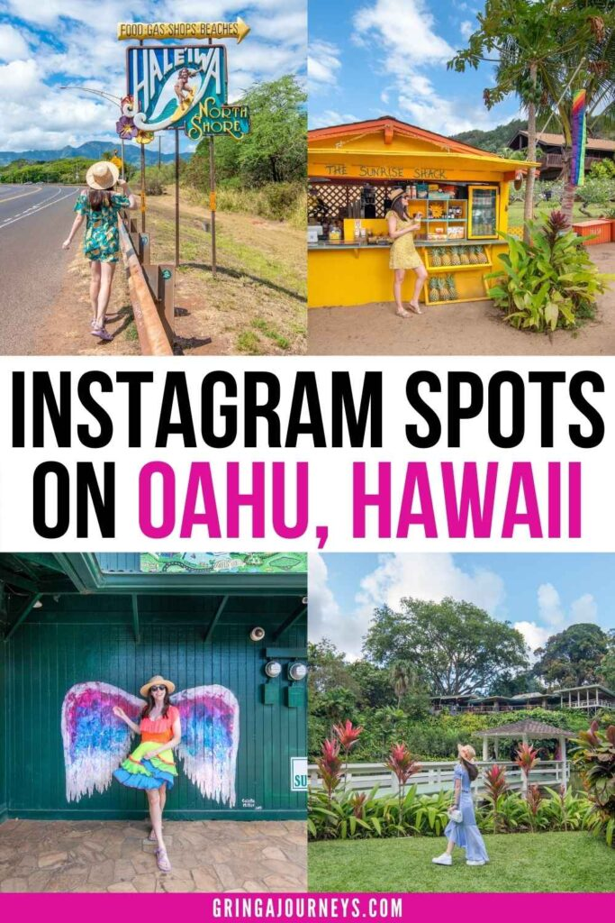 Discover 25 Oahu Instagram spots, including beaches, hotels, restaurants, attractions, and other beautiful places to take pictures on Oahu.