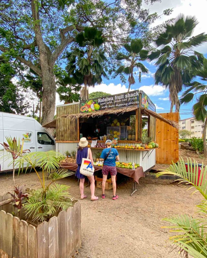 Colorful fruit shack in Haleiwa Town, on Oahu's North Shore.