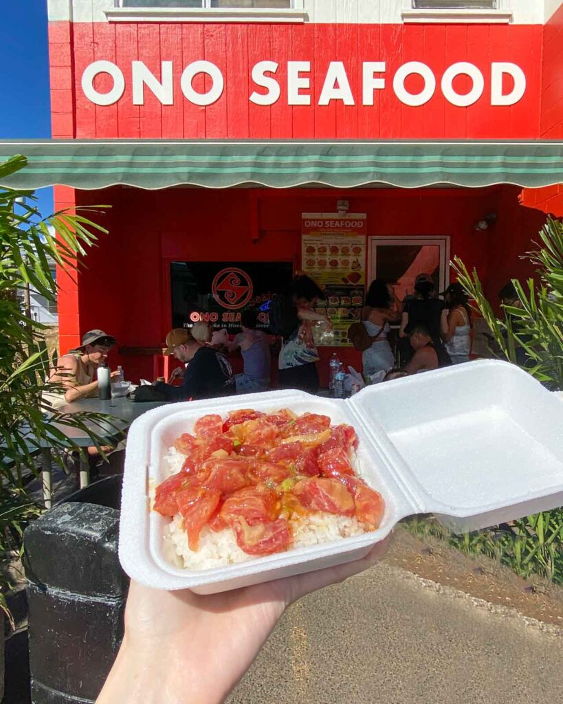 Ahi poke at Ono Seafood in Honolulu