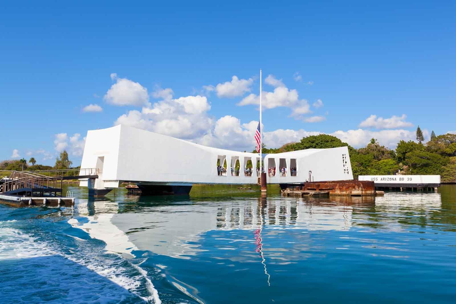 U.S.S. Arizona Memorial at Pearl Harbor.